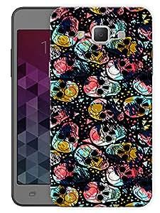"""Humor Gang Splattered Skulls Art Printed Designer Mobile Back Cover For """"Samsung Galaxy j7"""" (3D, Matte Finish, Premium Quality, Protective Snap On Slim Hard Phone Case, Multi Color)"""