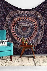 Dorm Tapestry, Hippy Mandala Bohemian…