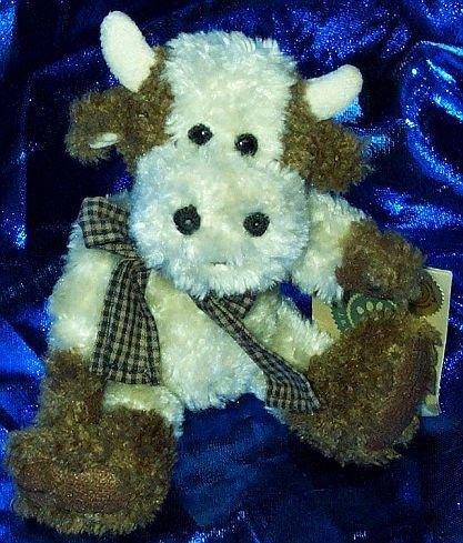 "Boyds Bears & Freinds Ernestine Vanderhoof 7"" Plush Cow - 1"