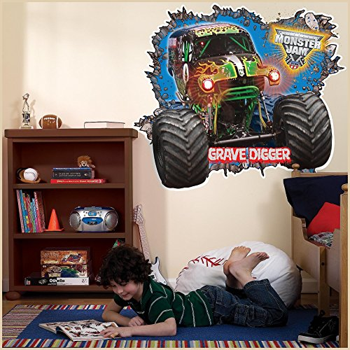 Birthday Express - Monster Jam 3D Giant Wall Decals