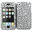 Leopard Cheetah Silver Bling Rhinestone Faceplate Diamond Cheetah Crystal Hard Skin Case Cover for Apple Iphone 1 One 1st Gen