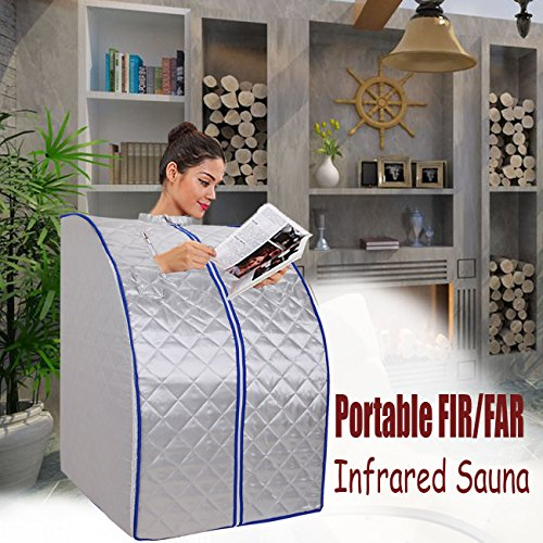 Portable-Infrarotsauna-faltbare-Wrmekabine-Ferninfrarot-650-bis-1000-W