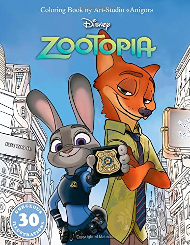 "Coloring Book ""Zootopia"" for Kids and Adults (Disney) 60 pages"