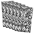"DII 100% Cotton, Oversized Basic 20x20"" Damask Napkin For Holidays, Buffets, Parties, Special Occasions, or Everyday Use - Set of 6, Black"