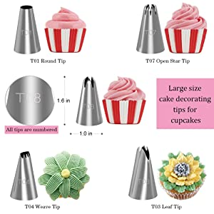 Kootek 58 Pieces Cake Decorating Supplies Kits with 29 Numbered Icing Tips, 22 Pastry Bags, 1 Icing Spatula, 3 Reusable Couplers, 2 Flower Nails Frosting Kids Baking Tool DIY Cupcakes Cookies (Color: Silver)