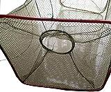 爆釣 魚捕り 網かご 捕獲アミ 立柱形 餌を入れて沈めるだけで簡単に魚が捕れる 漁具 仕掛け 3枚 セット