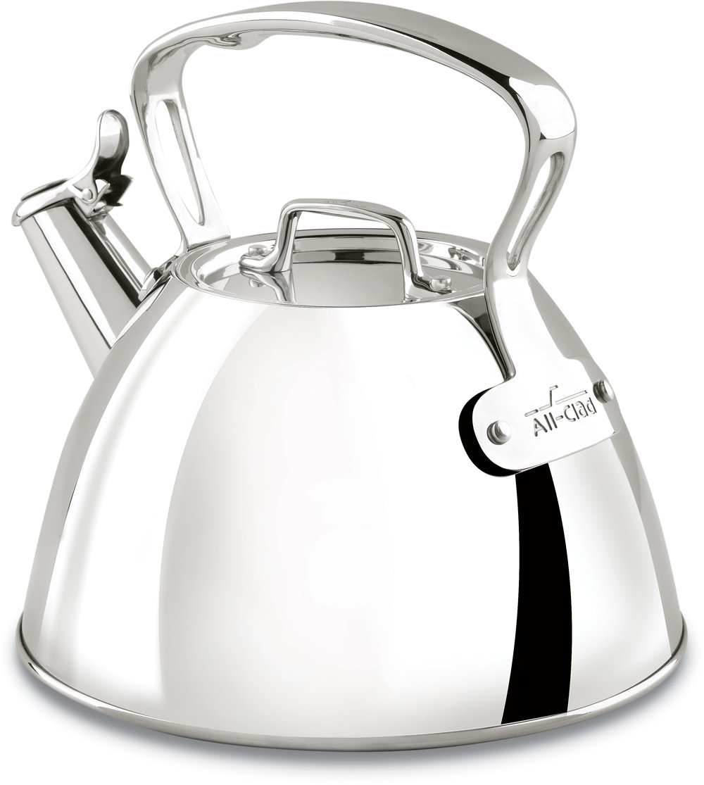 All-Clad E86199 Stainless Steel Specialty Cookware Tea Kettle, Silver