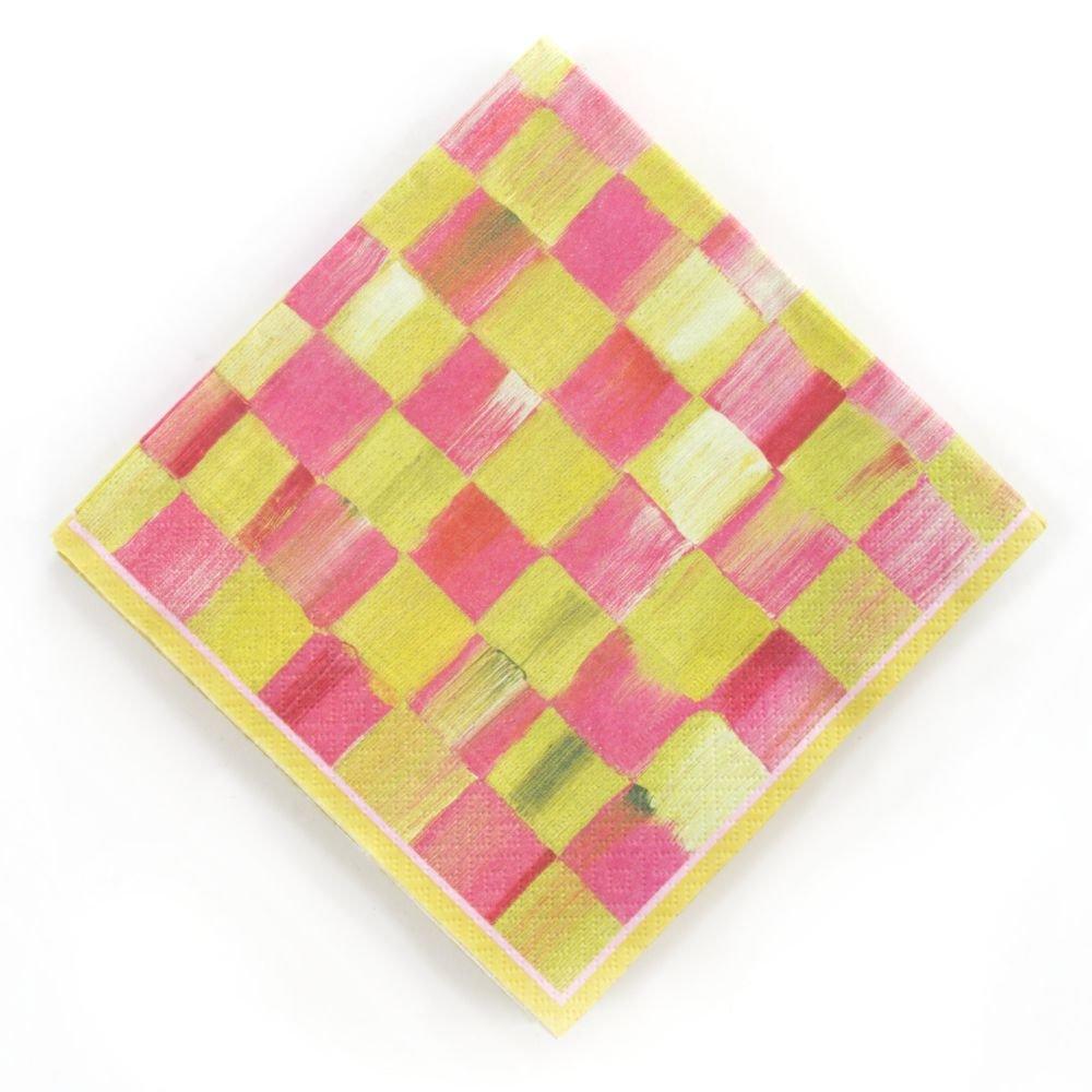 MacKenzie-Childs Tulip Check Napkins - Luncheon (6.5 sq. Folded. 20 per Pack) цена 2016
