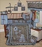 SISI Baby Boy Boutique Blue Zebra 13 Pc Baby Bedding Nursery Crib Set by Sisi