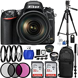 Nikon D750 DSLR Camera Bundle with AF-S NIKKOR 24-120mm f/4G ED VR Lens, Sling Backpack and Accessory Kit (31 Items)