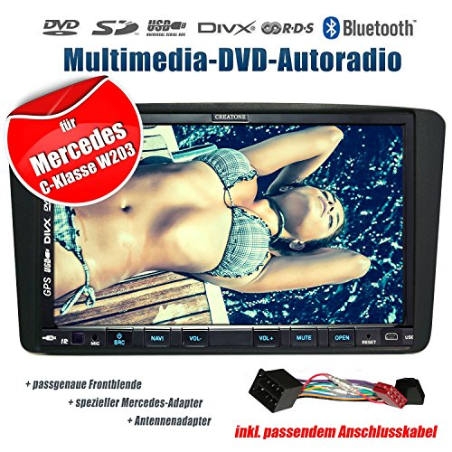 2DIN-Autoradio-CREATONE-CTN-9268D56-fr-Mercedes-C-Klasse-W203-032000-082004-mit-GPS-Navigation-Bluetooth-Touchscreen-DVD-Player-und-USBSD-Funktion