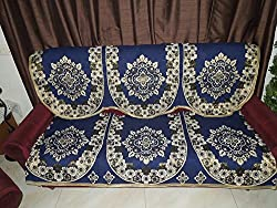 RSHP 5 SEATER POLYESTER COTTON SOFA COVER BLUE