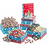 Holly Jolly Christmas, Deluxe Mix Celebration Gift Tower Including Covered Pretzels, Yogurt Covered Cranberries, and More, Holiday Gift Basket For Men, Women And Family Of All Ages!