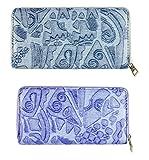 FAE Women's Wallet multi colour set of 2 by JDK NOVELTY - (Set2BGW3857GreyBlue)