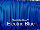 550 Paracord 100Ft ( Color:Electric Blue Electric Blue) by The550CordShop