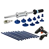 FIT TOOLS Manual Auto Body Damage Repair Dent Sliding Hammer Puller and Glue Sticks& Gun for Metal PDR work (Color: Multi-colored)