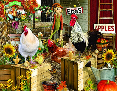 SunsOut Chickens on The Farm 1000+ Piece Jigsaw Puzzle