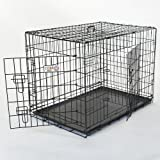 Majestic Pet 48-Inch Double Door Folding Dog Crate, X-Large