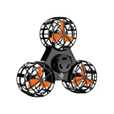 Bonitronic Flying Fidget Spinner, Anti-Anxiety ADHD Relieving Reducer Interactive Fidget Rotation Triangle Toys Funny Drone Interactive Games for Kids Adults, Black- 1 Years Warrenty (Color: Black)