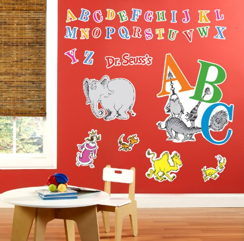 Dr Seuss ABC Room Decor - Giant Wall Decals (Dr Seuss Characters Wall Decals compare prices)