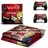 GMJIA PS4 Designer Skin for Sony PlayStation 4 Console System plus Two(2) Decals for PS4 Dualshock Controller - Fallout4 Nuka cola