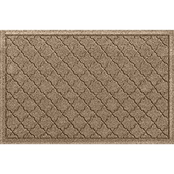 Bungalow Flooring Waterhog Doormat, 2 x 3, Skid Resistant, Easy to Clean, Catches Water and Debris, Cordova Collection, Khaki