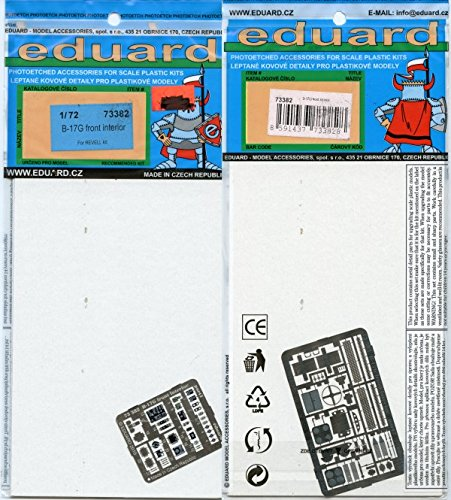 Eduard 1:72 B-17G Front Interior Painted Photo Etch for Revell Kit #73382x