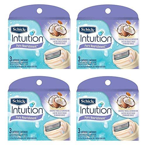 schick-intuition-pure-nourishment-coconut-milk-almond-oil-razor-blade-refill-cartridges-12-count