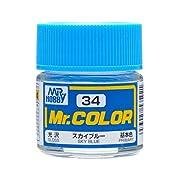 GSIクレオス Mr.カラー C34 スカイブルー