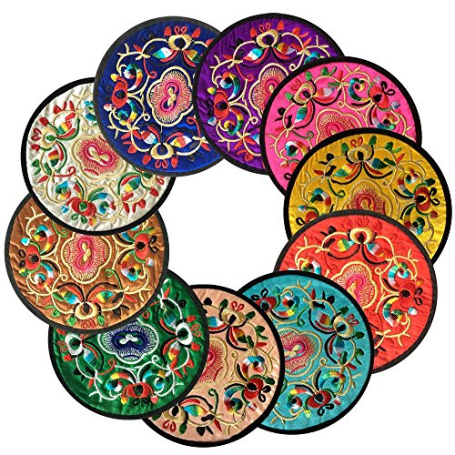 coasters-for-drinksvintage-ethnic-floral-design-placemat-value-pack-10pcs-set-512-13cm-mixed-colors