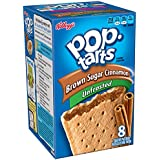 Pop-Tarts, (Not Frosted) Brown Sugar Cinnamon, 8-Count Tarts, 14 oz Packages (Pack of 12)