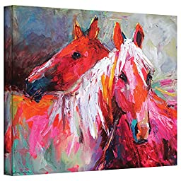 ArtWall Svetlana Novikova\'s Stallion Horses Gallery-Wrapped Canvas Wall Art, 24 by 32-Inch