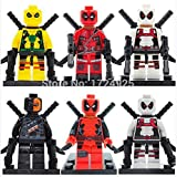 Superb good Deadpool Minifigure Marvel X-Men Super Heroes Marvel Building Blocks Sets Model Bricks Toys For Children