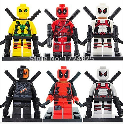 Superb good Deadpool Minifigure Marvel X-Men Super Heroes Marvel Building Blocks Sets Model Bricks Toys For Children