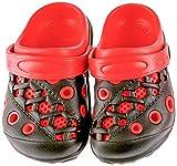 Lilsta Unisex Red Rubber Sandals- 29