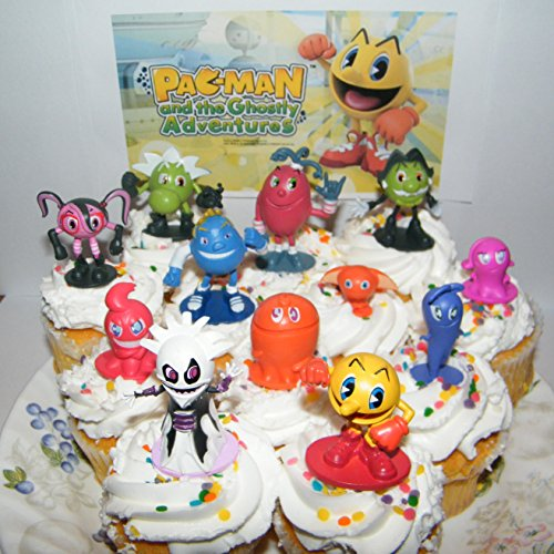 pac-man-and-the-ghostly-adventures-deluxe-mini-cake-toppers-cupcake-decorations-set-of-12-figures-wi