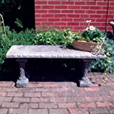 Large Garden Bench - Straight Pattern Top Stone Bench
