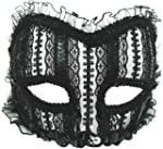 Transparent Mask. Black Lace/Band
