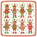 Entertaining with Caspari Entertaining Square Salad and Dessert Plates, Sweater Party, Pack of 8