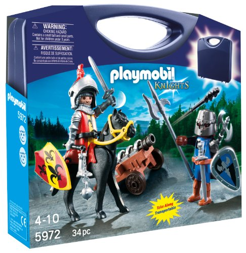 Playmobil Carrying Case Knights Playset, 5972, 34Pc front-1058509