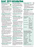 Excel 2011 for Mac: Introduction Quick Reference Guide (Cheat Sheet of Instructions, Tips & Shortcuts - Laminated Cards)
