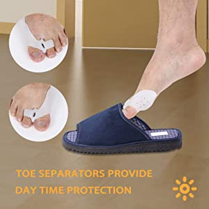 Orthopedic Bunion Corrector-Breathable Bunion Splint, Silicone Toe Separators, Treat Pain in Hallux Valgus, Big Toe Joint, Hammer Toe, Aid Surgery Tre