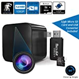 Hidden Camera Charger Nanny Cam Full HD Video for Home Surveillance with 32GB SD Card - Covert USB Spy Wall Camera for Home, Kids, Office, Pets, Elderly, Hotel Security by Detectif Tech