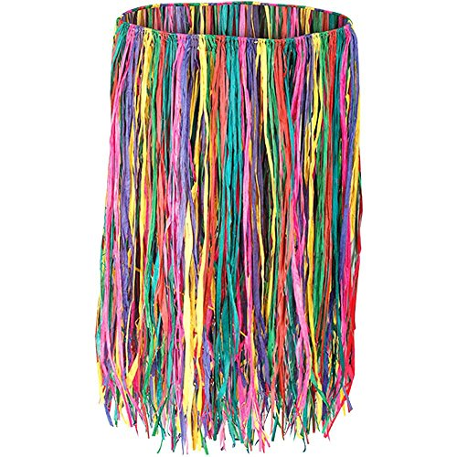"X-Large Deluxe Multi-Color Raffia Grass Hula Skirt - 38"" Waist"