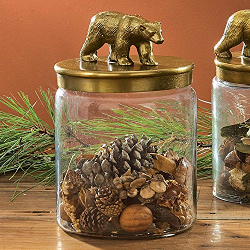 Rustic Bear Glass Canister - Large - Wilderness Kitchen Tableware (Rustic Kitchen Ware compare prices)