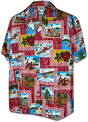 Paradise Santa Christmas Hawaiian Shirt