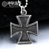 Generic Double -sided_Iron_ cross _domineering_ personality _influx_of_ people retro sweater chain long _section_of_ steel cross necklace pendant men man boy pendant s