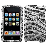 Silver Zebra Crystal Blings Protector Case Cover for Apple iTouch II/III (iPod Touch 2nd/3rd Gen)