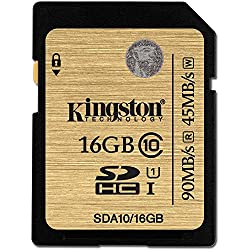 Kingston 16GB Class 10 UHS-I 90R/45W SDHC Card