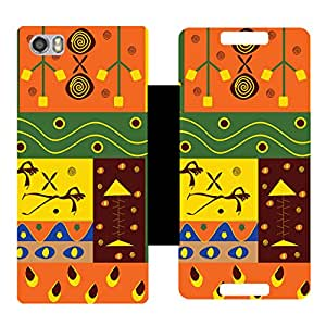 Phone Candy Designer Flip Cover with hi-res printed Vinyl sticker wrap-around for Macromax Canvas Fire 4G Plus Q412